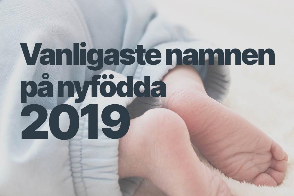 Vanligaste namnen nyfödda 2019