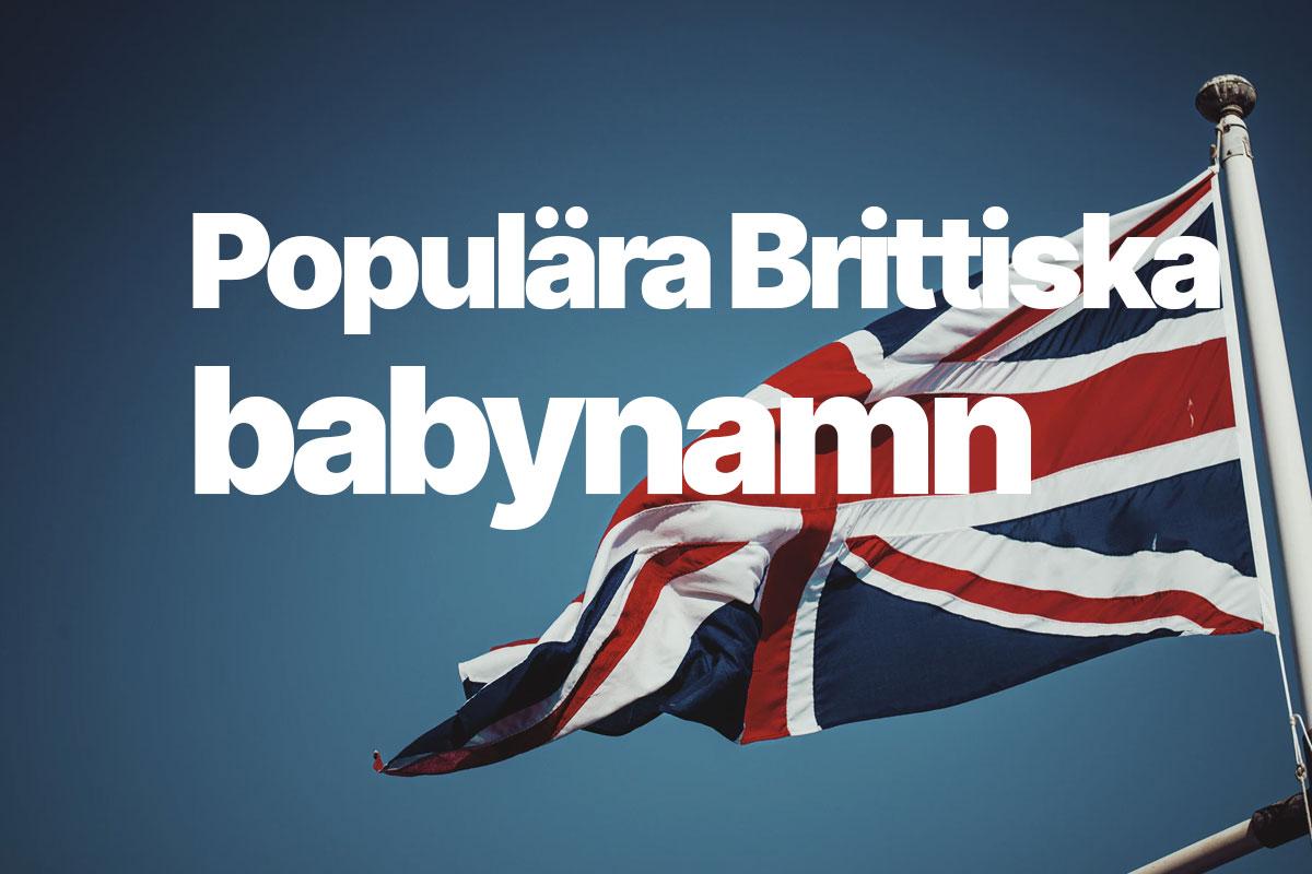 Populära brittiska namn baby